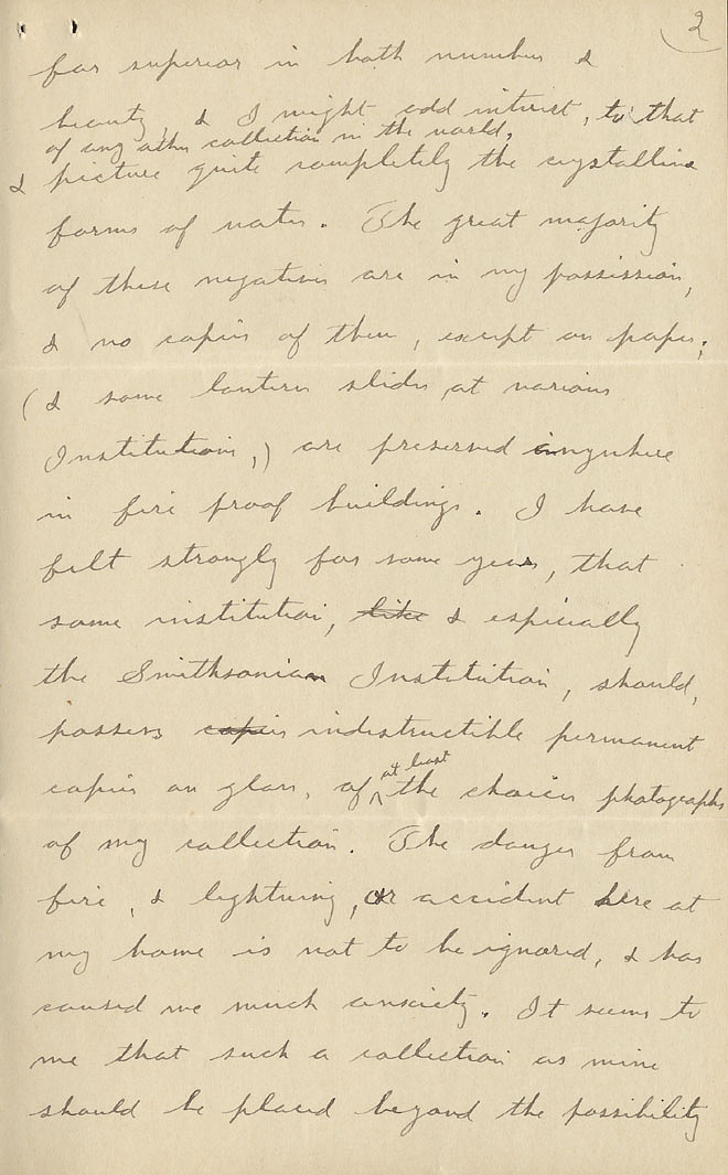 Wilson A. Bentley Letter - Dec 15, 1904 - Page 2