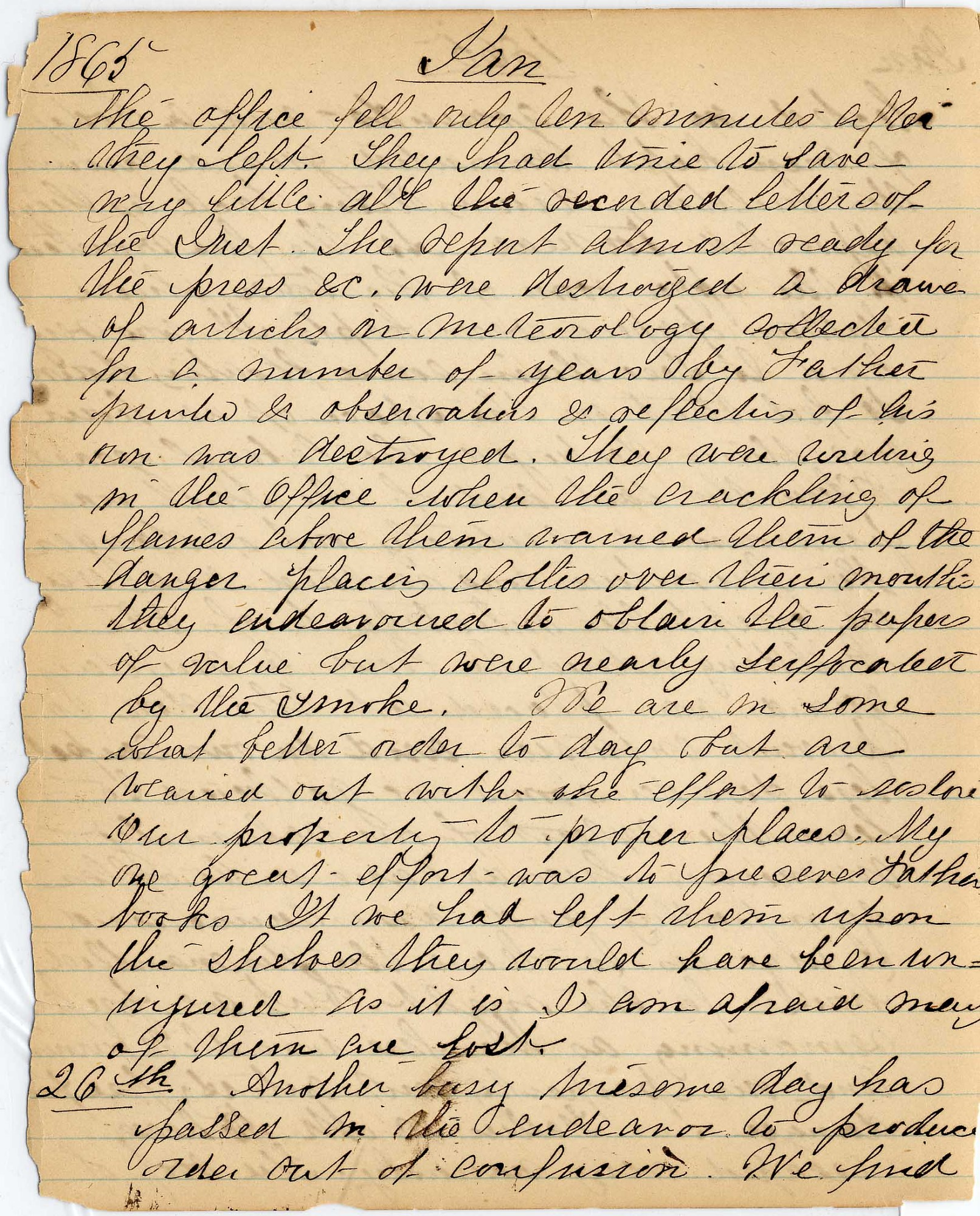 Mary Henry Diary, Fire - Jan 1865 - Page 4