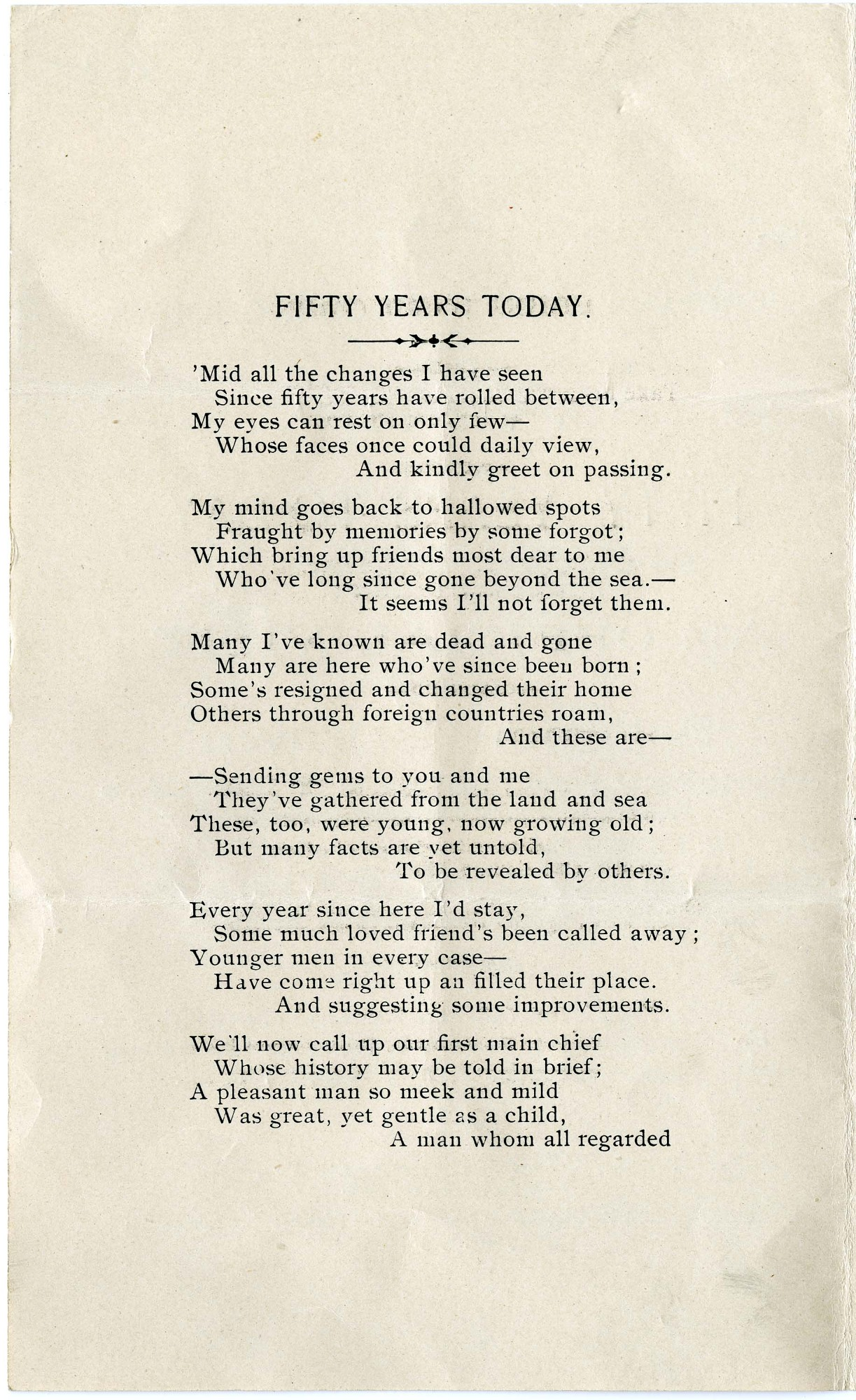 "Solomon Brown Poem, ""Fifty Years To-day,"" 1903 - Page 2"