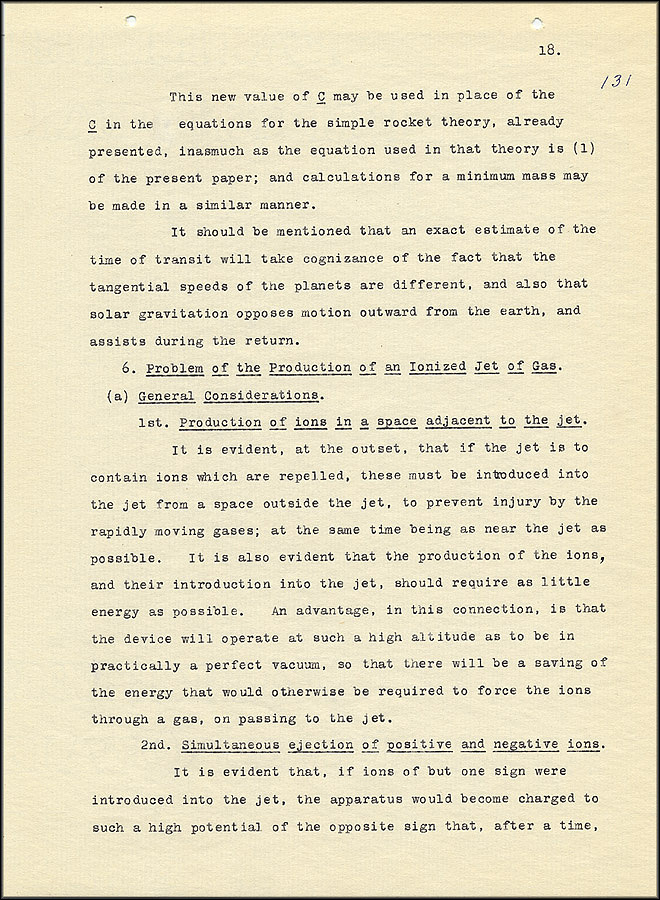 Robert Goddard Report  - March 1920 - Page 18