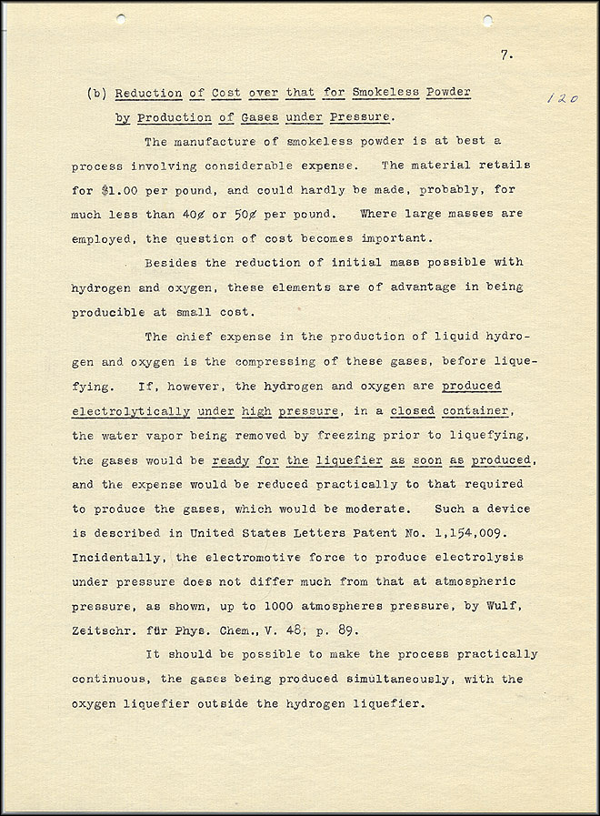Robert Goddard Report  - March 1920 - Page 7