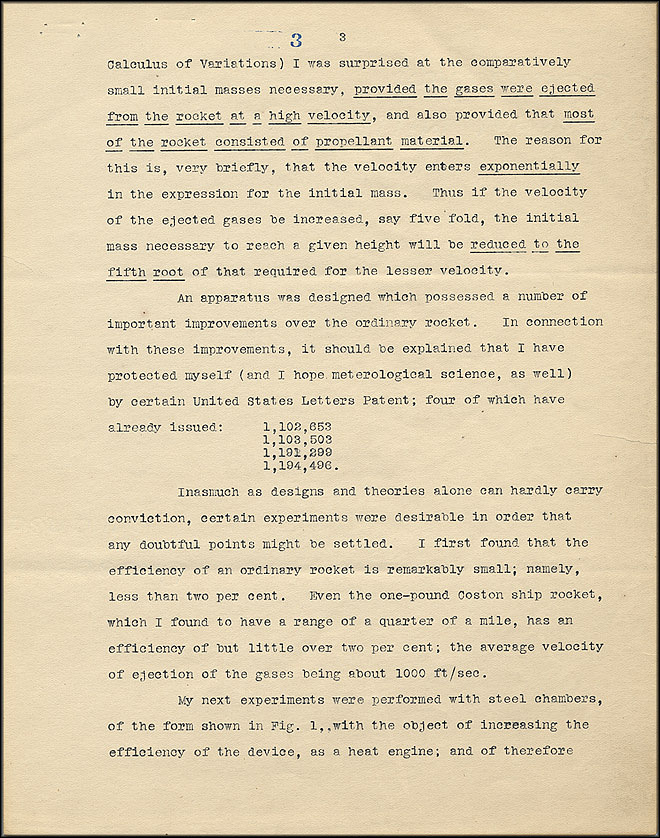 Robert Goddard Proposal - Sept 27, 1916 - Page 3