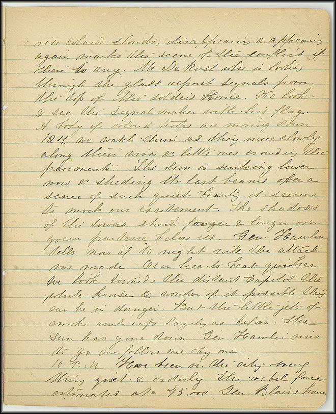 Mary Henry Diary, Southern Army - July, 1864 - Page 3