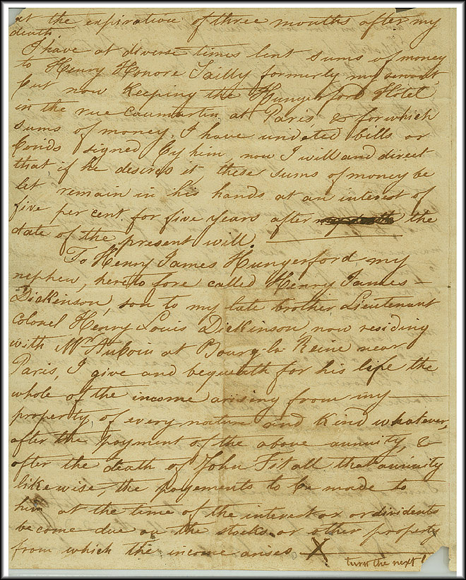 James Smithson Last Will - Oct 23, 1826 - Page 2