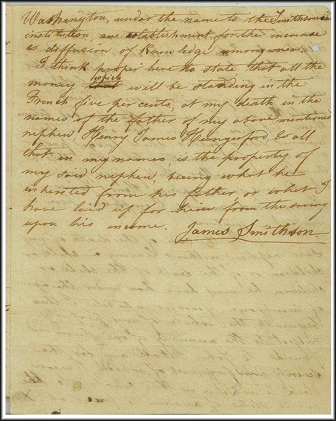 James Smithson Last Will - Oct 23, 1826 - Page 4