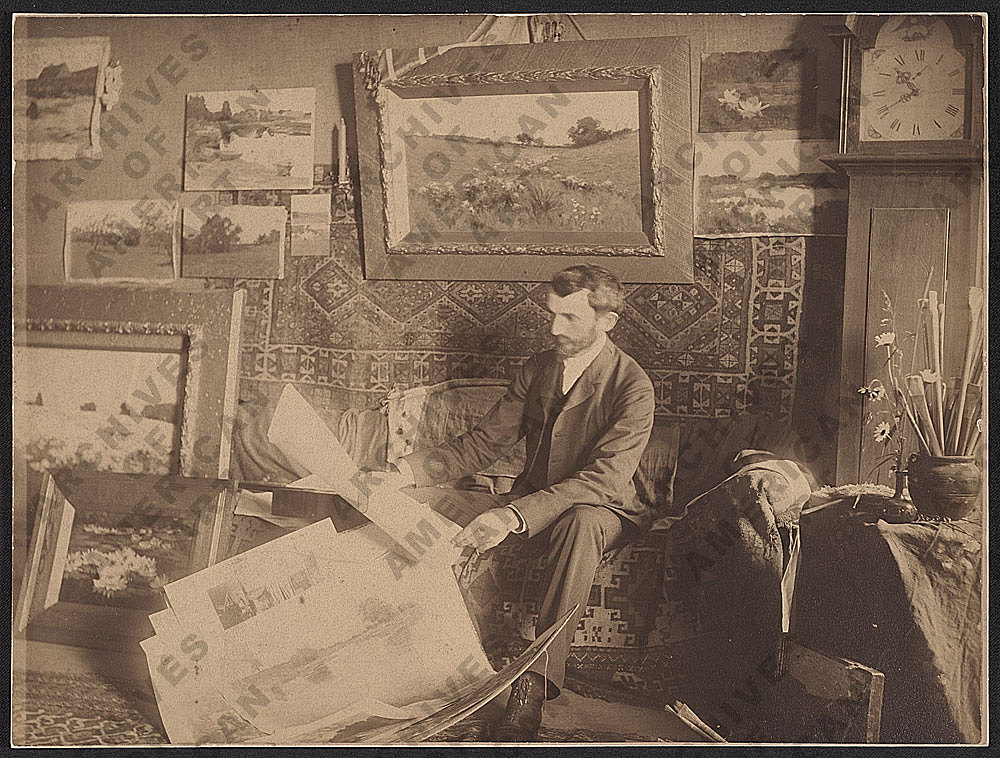 Arthur Wesley Dow in his Studio