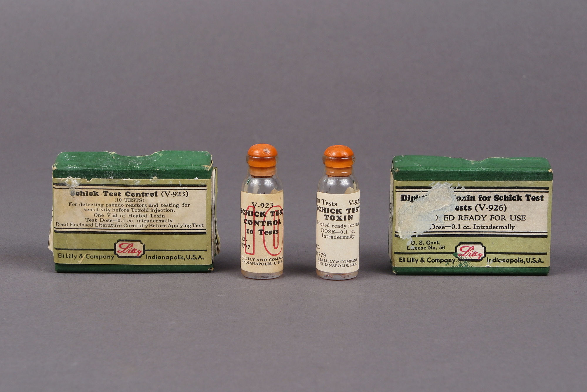 Diphtheria Toxin for Schick Test and Schick Test Control