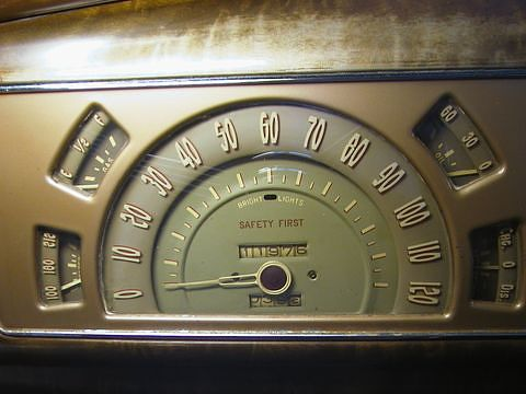 1938 Buick speedometer with SAFETY FIRST printed on the dial