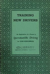 Booklet for driver education instructors, published by the American Automobile Association in 1937