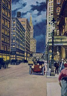 Madison Street, East from Dearborn, Chicago, 1907-1915
