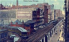 Union Loop, Chicago, about 1913