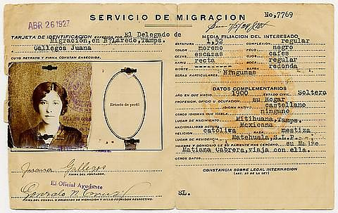 Mexican identification card