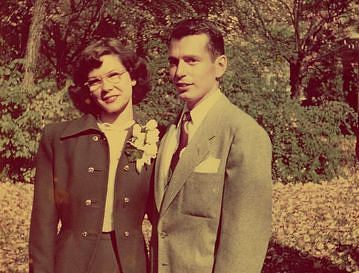 Pete and Dot Koltnow on their wedding day