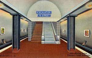 Moving Stairs, Chicago's Initial Subway, about 1943
