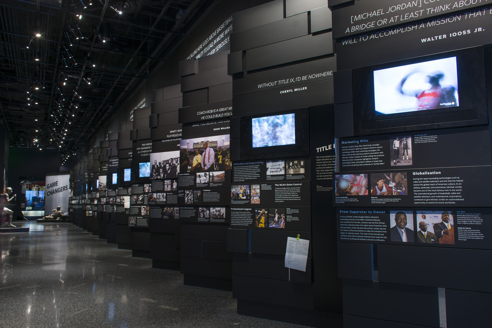 View of Sport Exhibit, NMAAHC