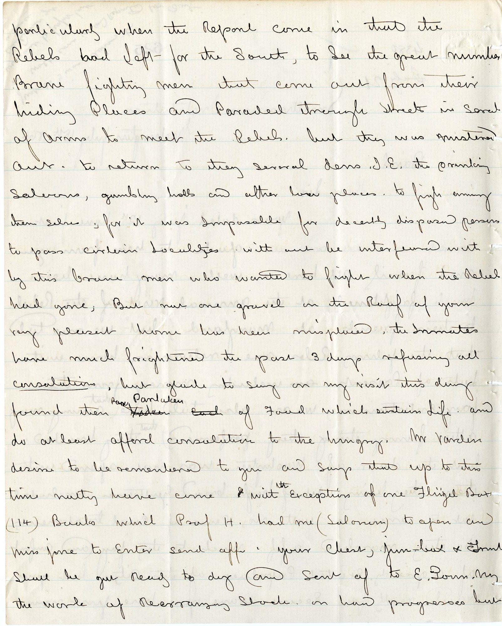 Solomon Brown Letter - July 15, 1864 - Page 2