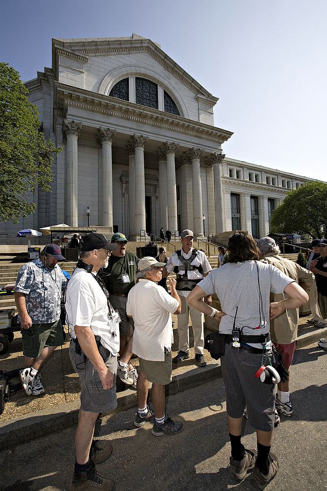 Filming Get Smart Outside the National Museum of Natural History