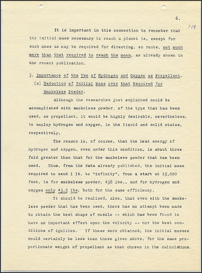 Robert Goddard Report  - March 1920 - Page 6