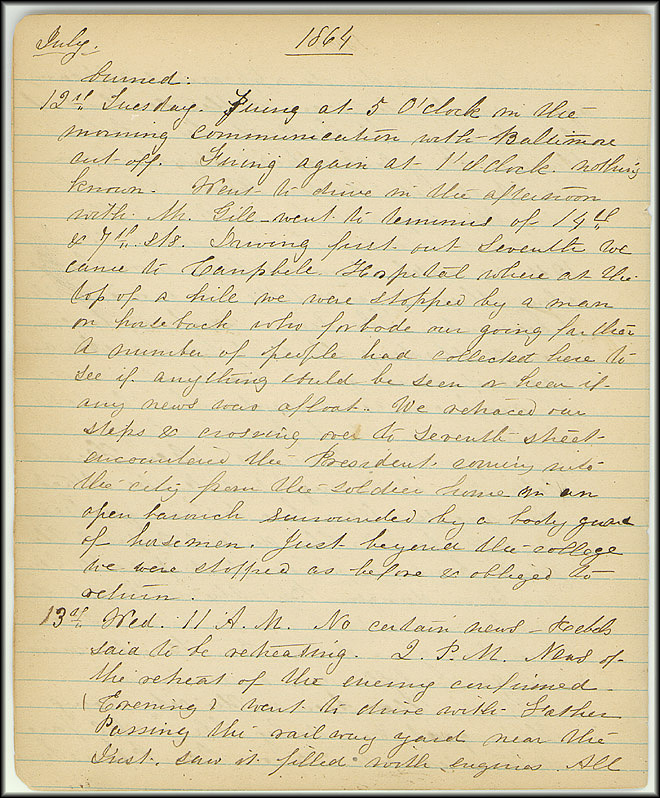 Mary Henry Diary, Southern Army - July, 1864 - Page 4