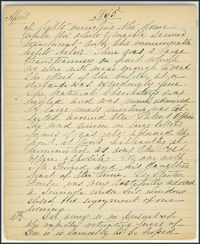 Mary Henry Diary, End of War - April, 1865 - Page 4
