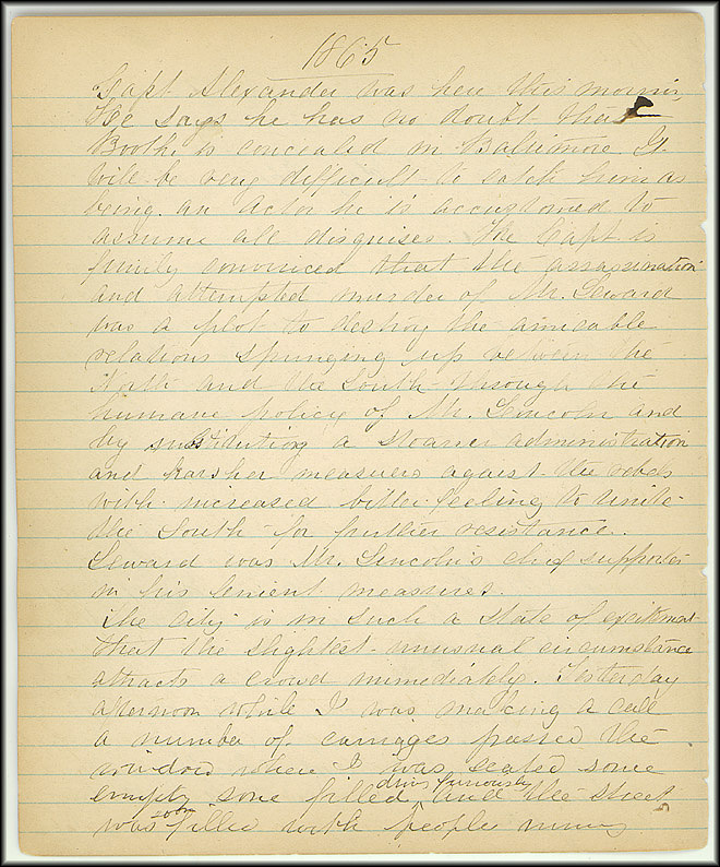 Mary Henry Diary, Lincoln - April, 1865 - Page 10
