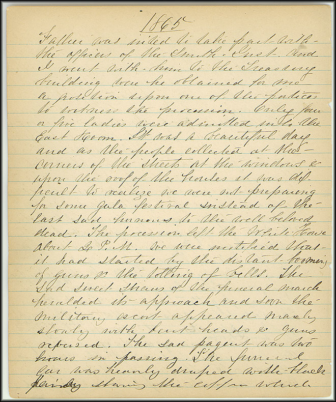 Mary Henry Diary, Lincoln - April, 1865 - Page 12