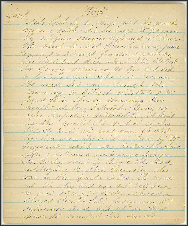 Mary Henry Diary, Lincoln - April, 1865 - Page 8