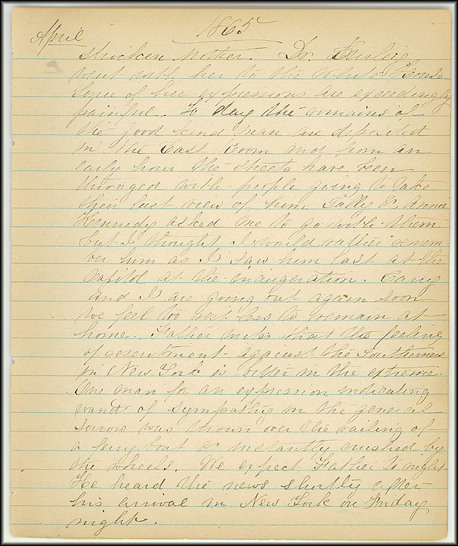 Mary Henry Diary, Lincoln - April, 1865 - Page 9