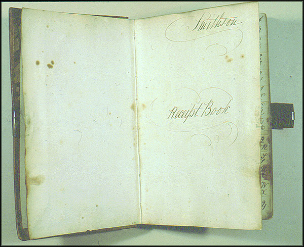 James Smithson Receipt Book - Inside