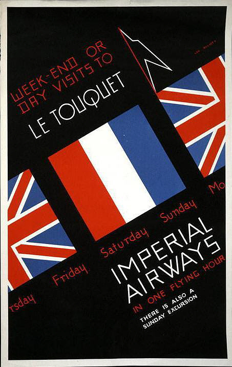 Imperial Airways Week-end or Day Visits to Le Touquet
