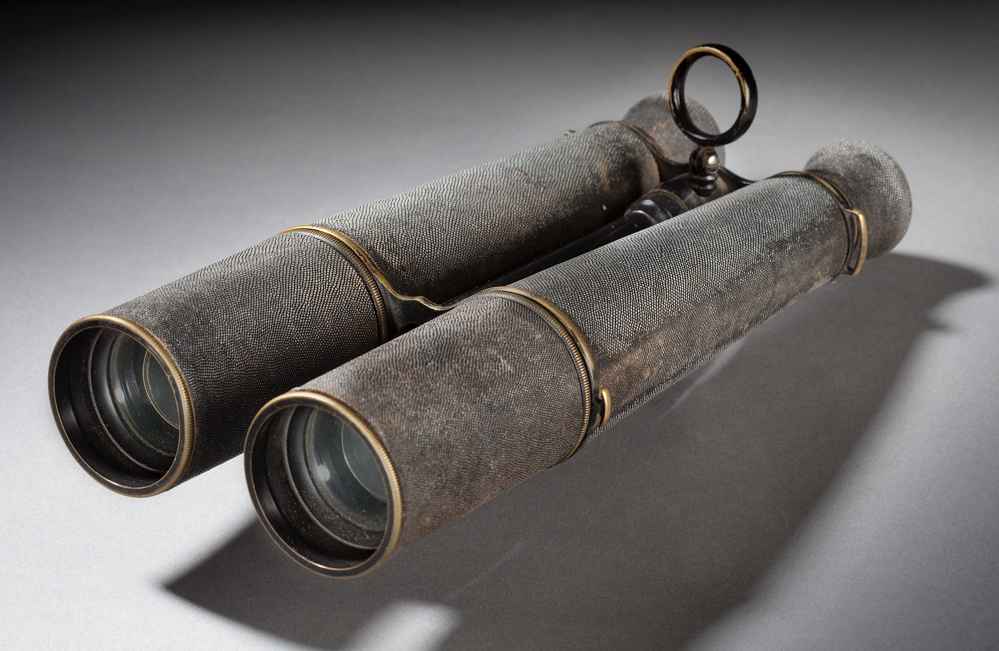 Binoculars used by Thaddeus Lowe during the Civil War, 1860s, Photograph of object, National Air and