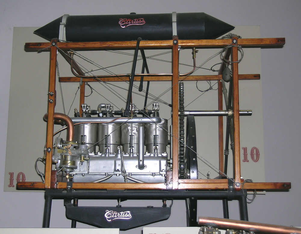 Curtiss E-4, In-Line 4 Engine