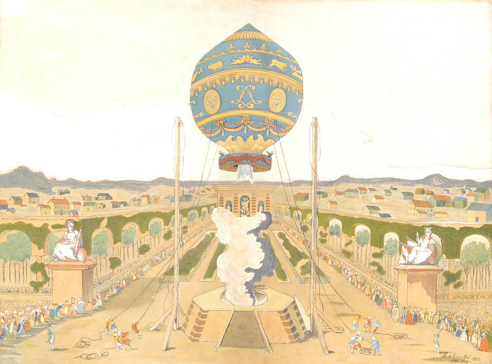 Ascension of a Montgolfier Balloon