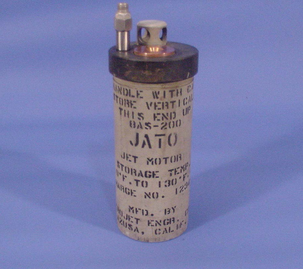 Rocket Motor, Solid Fuel, 8AS-200, JATO (Jet-Assisted-Take-Off) Unit