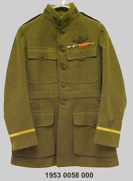 Coat, Service, United States Army Air Service, Captain Eddie Rickenbacker