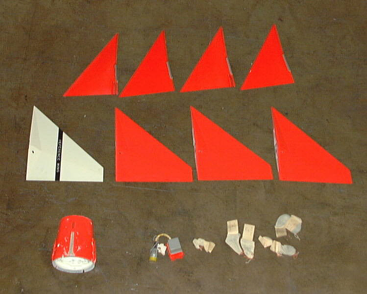 Missile, Sparrow II, Fins and Fin Adapter,Missile, Sparrow II, Fins and Fin Adapter