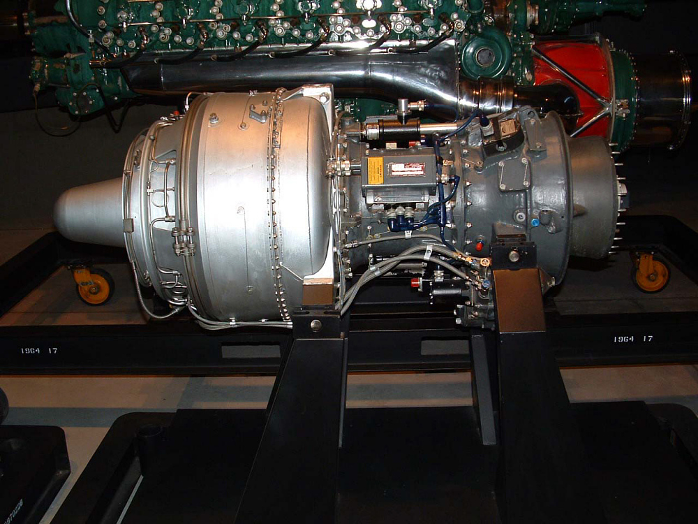 Lycoming T53-L-1 (LTC1B-1) Turboshaft Engine