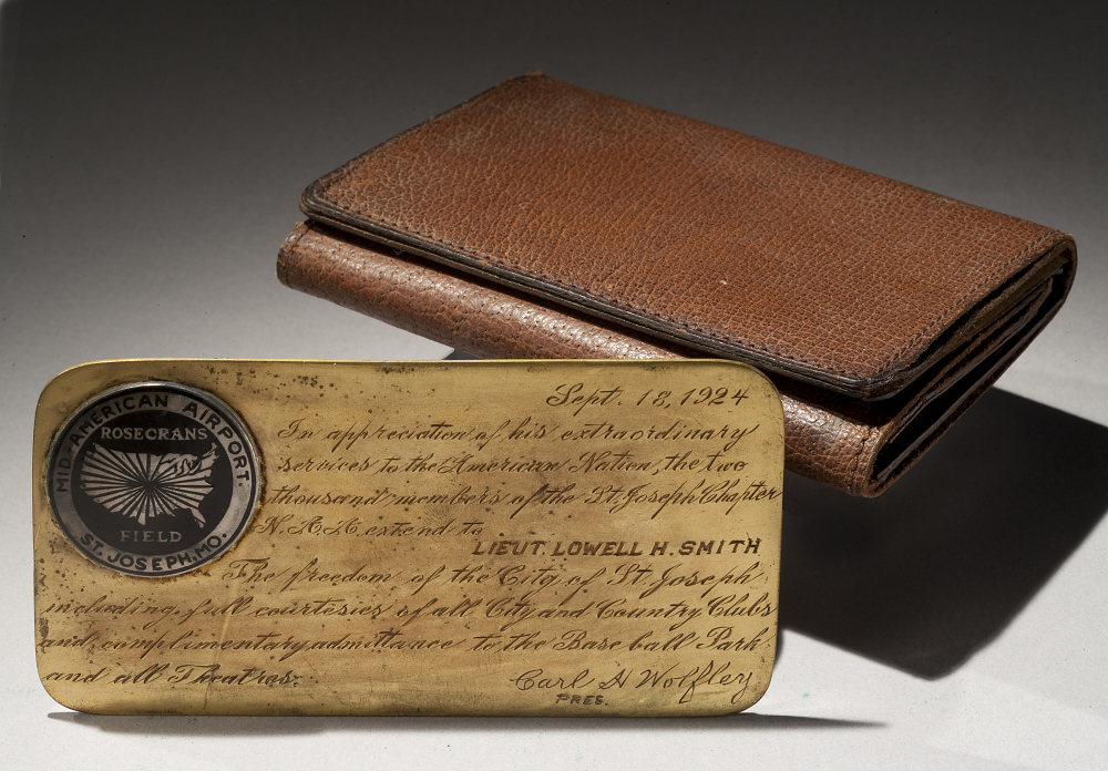Wallet and Pass to St. Joseph, Missouri, Lt. Lowell Smith