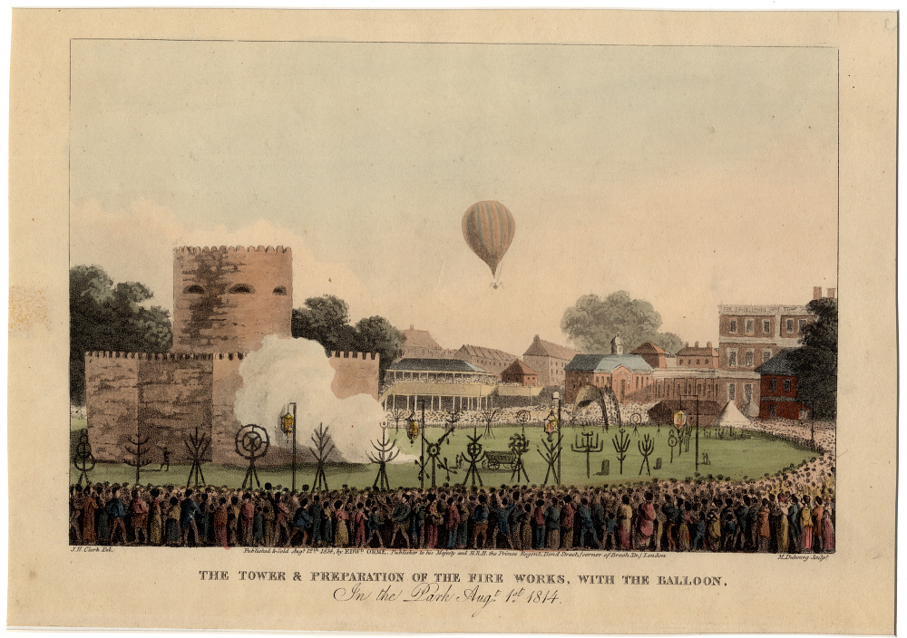 The Tower & Preparation of the Fireworks, with the Balloon in the Park
