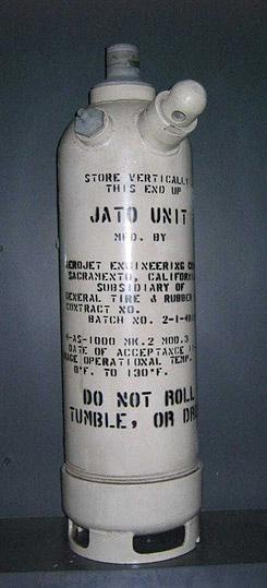 Rocket Motor, Solid Fuel, 4-AS-1000 MK.2, JATO (Jet-Assisted-Take-Off) Unit