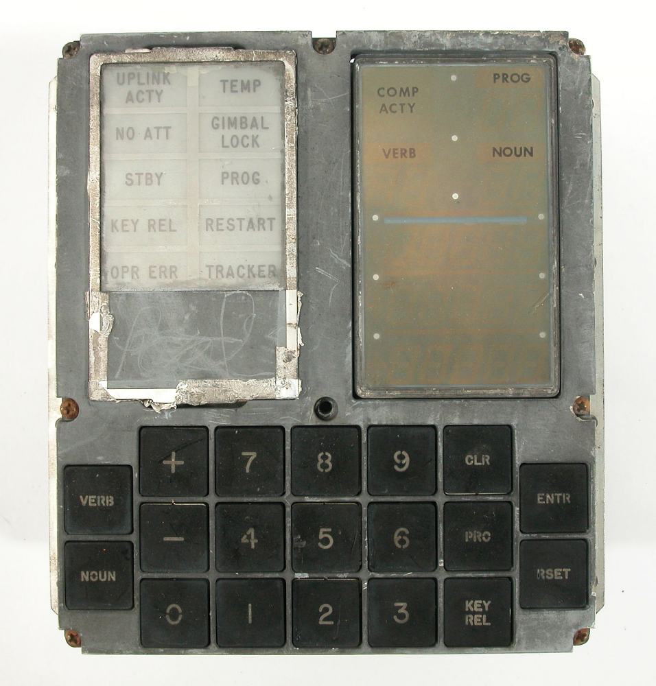 Keyboard, Display (DSKY), Apollo Guidance Computer,Keyboard, Display (DSKY), Apollo Guidance Computer