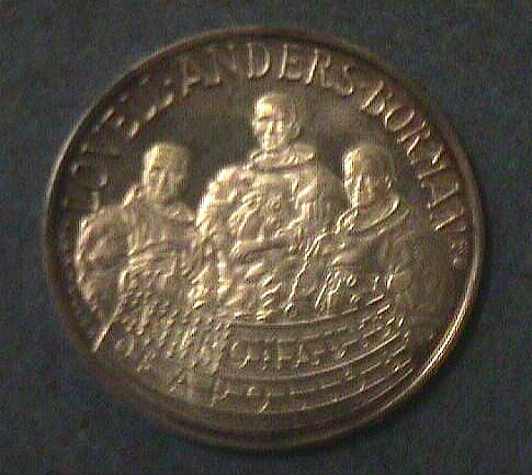 Medal, Commemorative, Apollo 8, Vienna Mint,Medal, Commemorative, Apollo 8, Vienna Mint