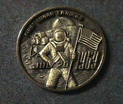 Medal, Commemorative, Apollo 11, L.G. Balfour,Medal, Commemorative, Apollo 11, L.G. Balfour