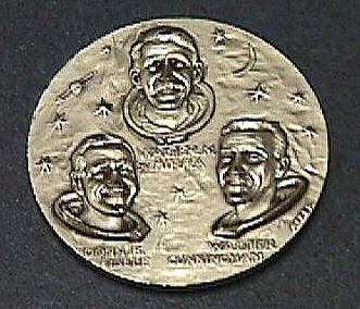 Medal, Commemorative, Apollo 7,Medal, Commemorative, Apollo 7