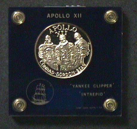 Medal, Commemorative, Apollo 12,Medal, Commemorative, Apollo 12
