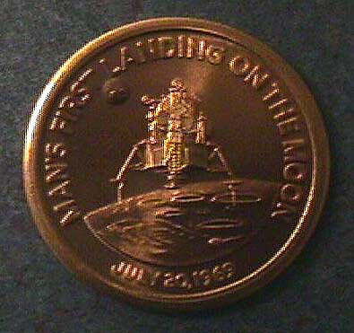 Medal, Commemorative, Apollo 11, Medallic Art,Medal, Commemorative, Apollo 11, Medallic Art