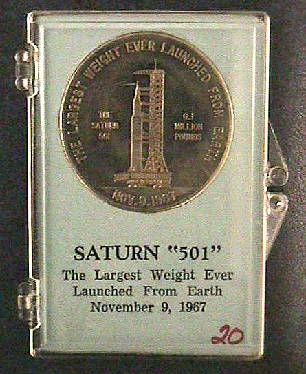 Medal, Commemorative, Saturn 501,Medal, Commemorative, Saturn 501