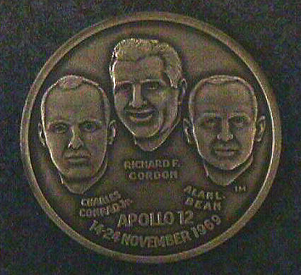 Medal, Commemorative, Apollo 12, Wellings Mint,Medal, Commemorative, Apollo 12, Wellings Mint
