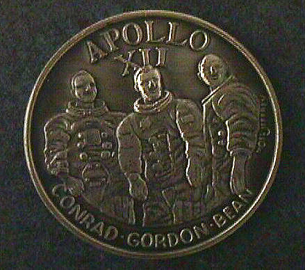 Medal, Commemorative, Apollo 12, Lincoln Mint,Medal, Commemorative, Apollo 12, Lincoln Mint