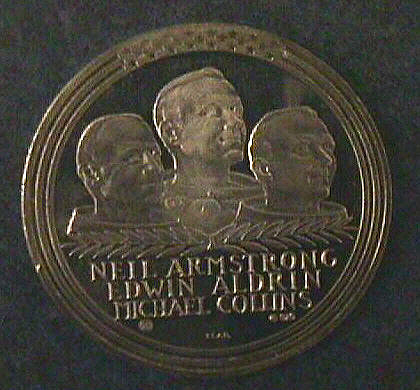 Medal, Commemorative, Apollo 11, Vienna Mint